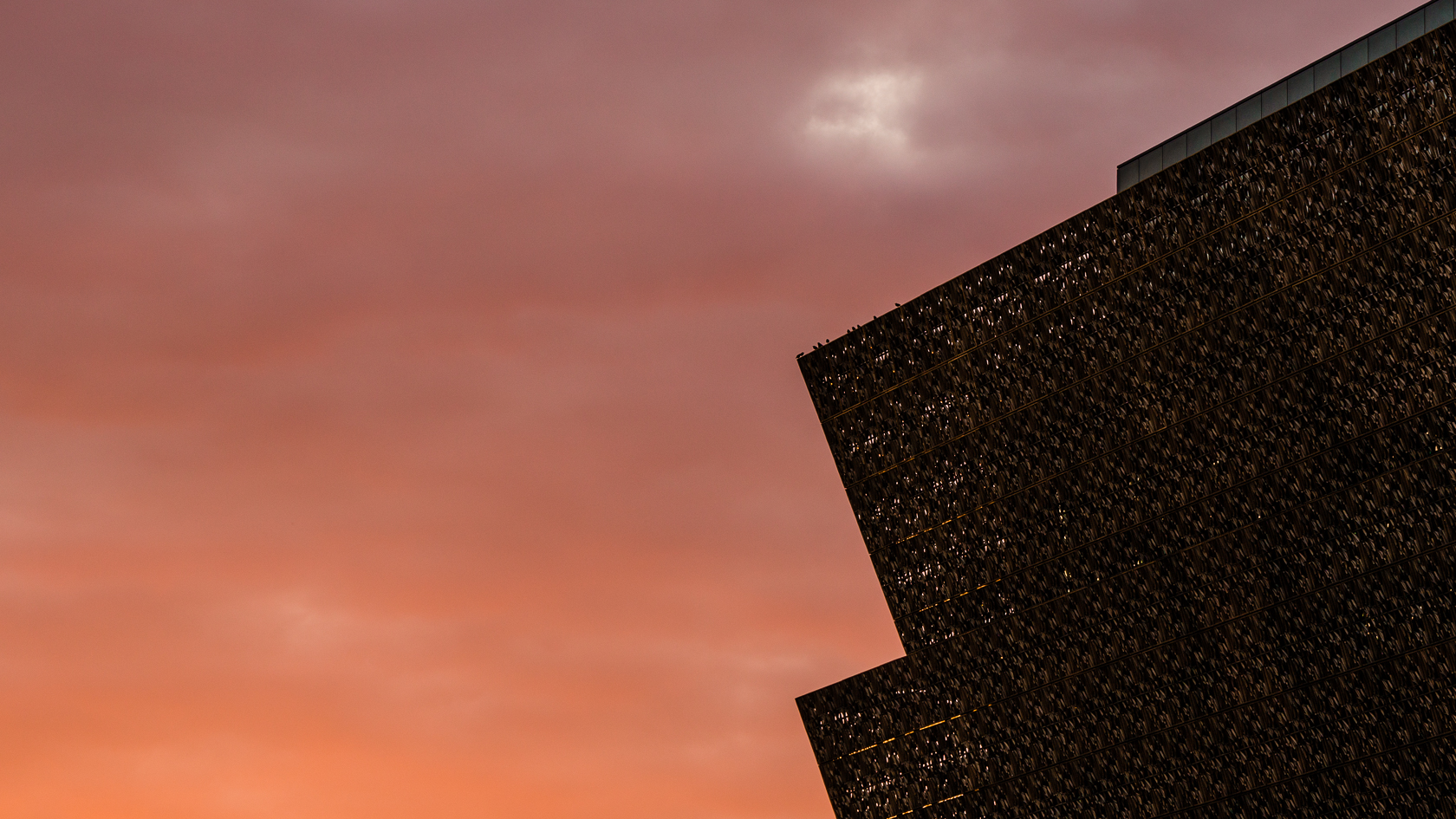 Sunset colors at the NMAAHC