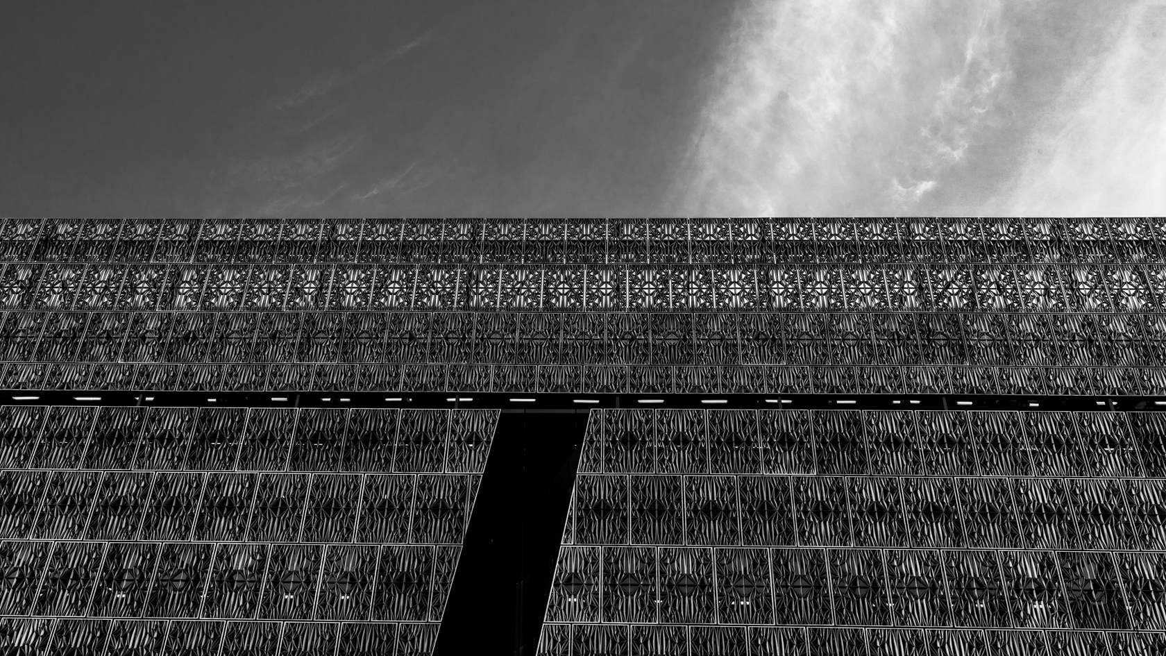 NMAAHC Black & White Facade Detail