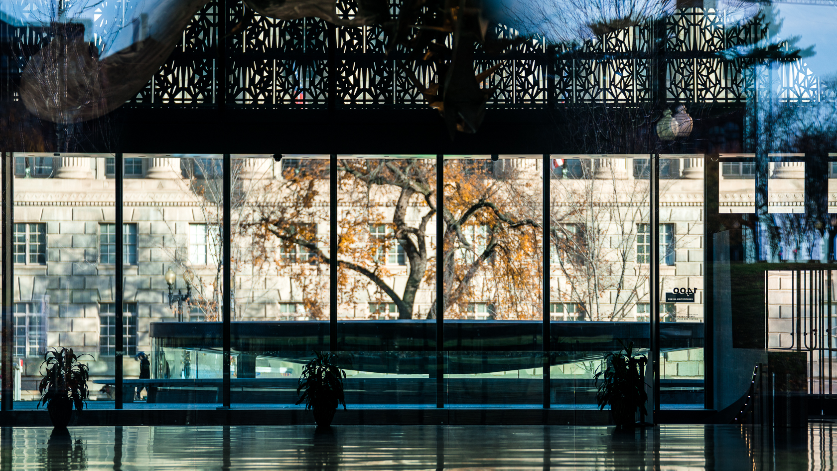 View through the NMAAHC Lobby