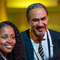 Phil Freelon and Pascale Sablan at the 2017 AIA Conference in Orlando