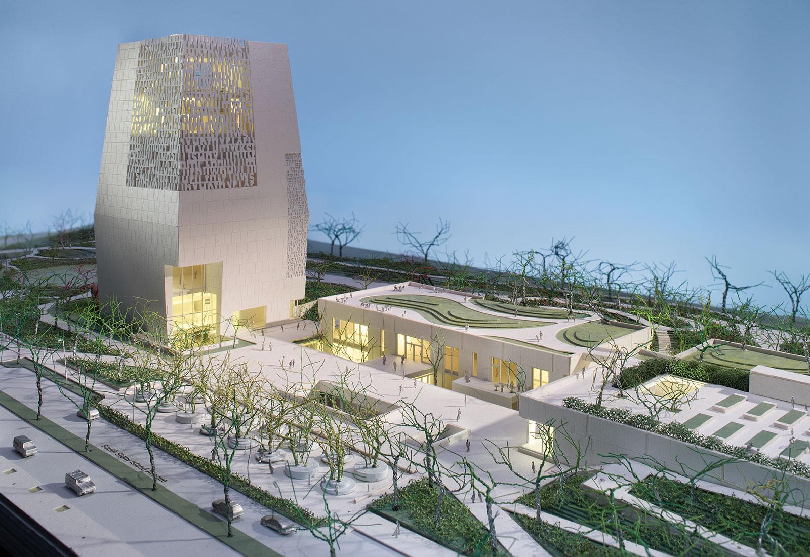 The Obama Foundation 3D Model Image