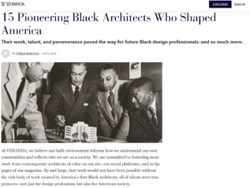 Veranda Looks at Black Architects and Notes NOMA's Work and History